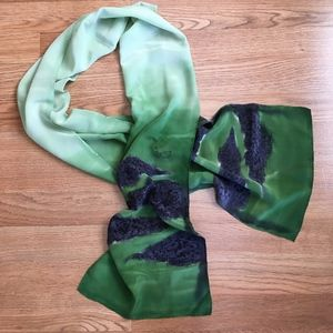 Dyed Silk Oblong Scarf